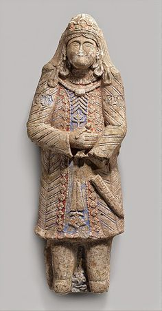 11th and 12th Century Seljuk Dynasty Costume, Stucco Figure,