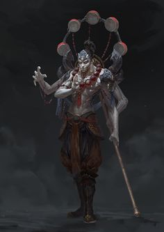 by light gyzj on artstation. war game inspiration f Character Design References, Game Character, Character Concept, Fantasy Character Design, Character Inspiration, Dark Fantasy, Fantasy Art, Arte Ninja, Fantasy Monster