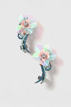 Sequin Flower Earcuff Earring - Jewellery - Bags & Accessories - Topshop
