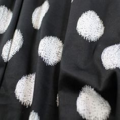 Hazy Dots Stretch Cotton Sateen - Black/White - Gorgeous FabricsGorgeous Fabrics