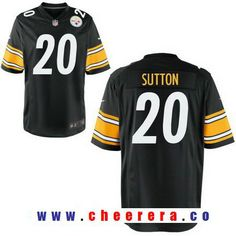 53fe08514d7 ... Jersey - White Mens 2017 NFL Draft Pittsburgh Steelers 20 Cameron  Sutton Black Team Color Stitched NFL Nike ...