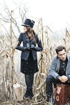 Love this edgy and creatively styled engagement shoot