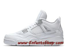 """While not an original colorway, the Air Jordan 4 """"Pure Money"""" certainly gets that level of love. The all-white Air Jordan 4 Retro was a hit back in 2007 during its original release, which explains why this Saturday's official drop … Continue reading → Nike Air Jordans, Tenis Nike Air, Air Jordan Iv, Jordan 2017, Jordan Nike, Jordan Shoes Girls, Girls Shoes, Air Jordan 4 Royalty, Limited Edition Trainers"""