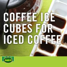 Never have watered-down coffee again | Fill your ice tray with coffee and freeze overnight for the best iced coffee | Back to School | Life Hacks | #JennieO #sweepstakes #howto #hack #kidfriendly #snacks