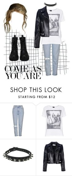 """""""come as you are"""" by gb041112 ❤ liked on Polyvore featuring Topshop, Yves Saint Laurent, women's clothing, women, female, woman, misses and juniors"""