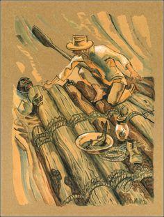 Adventures of Huckleberry Finn. Ill. M. Petrov.