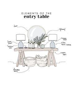 Foyer Design, Deco Design, Entry Way Design, Design Design, Design Ideas, Interior Design Tips, Home Interior, Interior Decorating Styles, Interior Livingroom