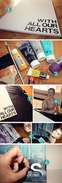 diy canvas art = <3   pick our colors {theme} and do it!