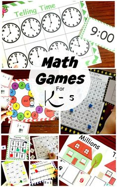 Math games 350928995963091406 - Here are over 30 easy math games to help children have fun during math time. Help children learn about fractions, decimals, time, money, adding and subtracting with these fun math games. Source by marysecamus Easy Math Games, Math Activities For Kids, Math Resources, Counting Activities, Mental Maths Games, Maths Fun, Primary Maths, Learning Games, Preschool Learning