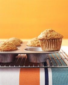MARTHA STEWART - SPICED CARROT MUFFINS - To make your own pumpkin-pie spice, combine one and a half teaspoons ground cinnamon with one-quarter teaspoon each ground ginger and nutmeg.