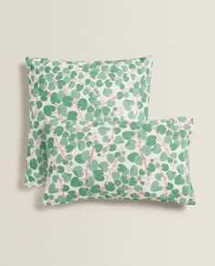 LEAF PRINT CUSHION COVER -  | Zara Home Ireland Zara Home Canada, Printed Cushions, Spring Trends, Leaf Prints, Blade, Printer, Improve Yourself, Bed Pillows, Fabric