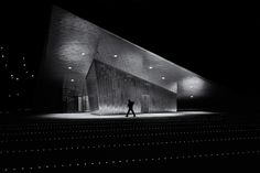 Modern building, modern light, a man …
