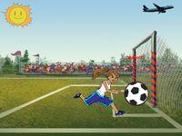 Creado por mi, esta animación en movimiento hasta que marca el gol y también está el avión en movimiento junto con fondo correspondiente. Una animación muy divertida.
