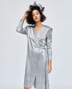 8ea0838afd SHINY JUMPSUIT. Image 2 of PLEATED DRESS from Zara. ELLIE LAMBE · WEDDING  GUEST