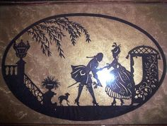 Vintage Sillouette black cut out tray Shadow by TheSingingTurtle, $20.00