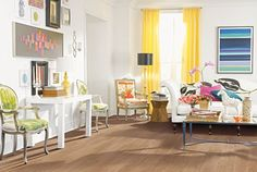 Simplesse luxury vinyl tile flooring in Warm Honey Oak color. Simplesse comes in Oak and construction. Mohawk Hardwood Flooring, Maple Hardwood Floors, Oak Laminate Flooring, Engineered Hardwood, Luxury Vinyl Tile Flooring, Luxury Vinyl Plank, Inexpensive Flooring, Flooring Options, Living Room Decor