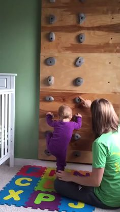 Rock Climbing Holds Features: These climbing rocks are designed for childrens playsets and should not be used for rock climbing walls or any environment over 6 feet tall. These rock climbing holds ar So Cute Baby, Baby Love, Cute Kids, Fun Baby, Infant Activities, Activities For Kids, Indoor Activities, Childcare Activities, Physical Activities