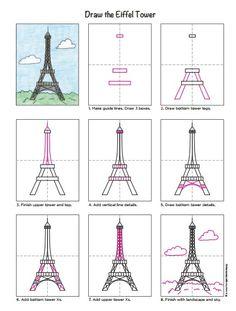 Dessin Tour Eiffel Etape Par Etape Dessin Pinterest