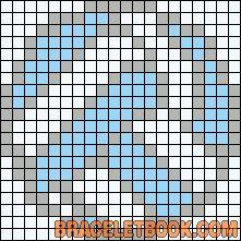 Alpha Friendship Bracelet Pattern #11004 - BraceletBook.com
