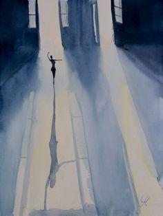 """""""Dancer"""", original watercolour painting, 11.8""""x 15.7""""(30x40cm), - Image 0"""