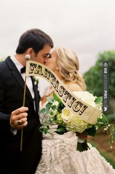 Brilliant! - Everyone needs a FANTASTIC sign on their wedding day ;) Photography by | CHECK OUT MORE GREAT VINTAGE WEDDING IDEAS AT WEDDINGPINS.NET | #weddings #vintagewedding #weddingvintage #oldweddingphotos #events #forweddings #iloveweddings #romance #vintage #planners #old #ceremonyphotos #weddingphotos #weddingpictures