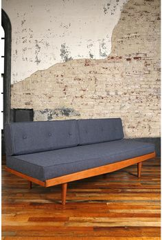I love this couch, but the back is pretty fugly. Only against a wall!