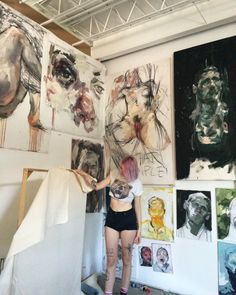 Studio, because I'm missing it right now. And if you're a kid in Toronto and need a place to paint and draw send me an email and come by and hang out when I'm back in town (especially kids who need a safe space to make work that may not be acceptable...