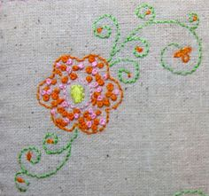 Flower design for pinafore