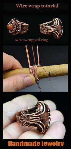 Copper Wire Jewelry, Wire Jewelry Making, Jewelry Making Tutorials, Rope Necklace, Wire Earrings, Beaded Necklace, Wire Wrapped Rings, Wire Wrapped Pendant, Viking Knit