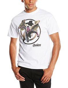 Marvel Avengers Age of Ultron Vision - Camiseta manga corta para hombre, color blanco, talla S #regalo #arte #geek #camiseta