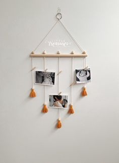 Excited to share the latest addition to my shop: Picture Display - Photo Display - Photo Holder - Picture Wall Hanging - Picture Holder - Wall Photo Display - Kids Art Display Photo Wall Hanging, Hanging Artwork, Hanging Pictures, Creative Wall Decor, Diy Wall Decor, Bedroom Decor, Picture Holders, Photo Holders, Family Pictures On Wall