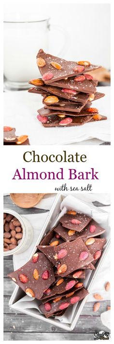 Chocolate Almond Bark with Salted Caramel & Blueberry Almonds and a ...