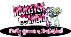 Put together an awesome Monster High Party with these DIY Monster High Games, Ideas and Printables!