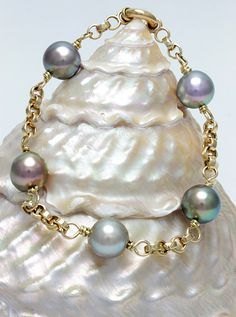 Magnificent 14K Yellow Gold Soft Baroque Cortez Pearl Bracelet - Perlas Shop - Perlas del Mar de Cortez