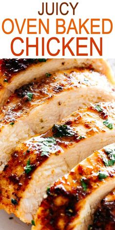 JUICY OVEN BAKED CHICKEN BREASTS Simple and easy method for how to make perfectly juicy and deliciously seasoned oven baked chicken breasts chickenbreasts easydinner quickrecipes Quick Recipes, Baking Recipes, Healthy Recipes, Crockpot Recipes, Vegetarian Recipes, Simple Food Recipes, Easy Main Course Recipes, Easy Oven Recipes, Keto Recipes