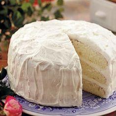 Easy white cake recipe Most amazing cake I have ever made! Seriously taste like ice-cream!