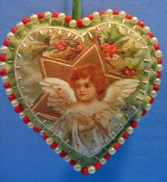 Victorian Angel Beaded Ornament | by misseskwittys
