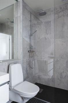 Bathroom beautiful grey wall Small Bathroom With Bath, Bathroom Kids, Basement Bathroom, Bathroom Interior, Master Bathroom, Arch Interior, Interior Design Living Room, Living Room Designs, Diys Room Decor