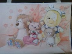 lovely soft  toys by water color