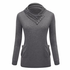 Shop now http://a-sheek-boutique.myshopify.com/products/new-2016-autumn-pullovers-casual-hoodies-women-big-pocket-designturtleneck-collar-sweatshirt-with-hood-sexy-slim-ladies-clothing?utm_campaign=social_autopilot&utm_source=pin&utm_medium=pin A Sheek boutique new products.
