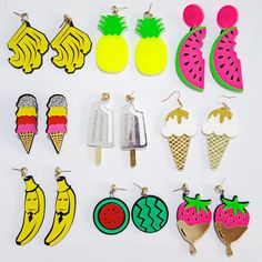 Acrylic Fruits and Icy Food Earrings //Price: $9.95 & FREE Shipping //     #hashtag4