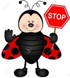 Mariquita con una señal de stop calle Foto de archivo - 29939669 San Antonio, Iris Folding, Ladybug, Mickey Mouse, Disney Characters, Fictional Characters, Diy Crafts, Drawings, Sweet