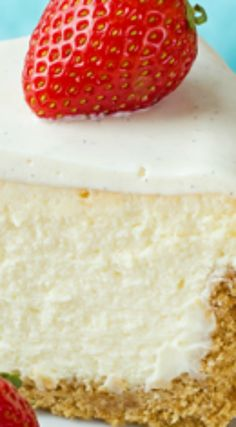 Perfect New York Cheesecake ~ Thick, dense and ultra-rich, this perfect New York cheesecake is so easy it's fool-proof!