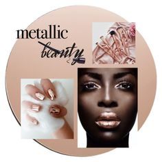"""""""Metallic make-uplook"""" by httpeline ❤ liked on Polyvore featuring beauty and House Doctor"""