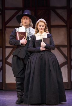 Photo of Brooks Ashmanskas as Brother Jeremiah & Kate Reinders as Portia in Something Rotten! Broadway Costumes, Musical Theatre Broadway, Theatre Costumes, Broadway Shows, Theatre Geek, Music Theater, Something Rotten Musical, Dear Evan Hansen, Show Photos