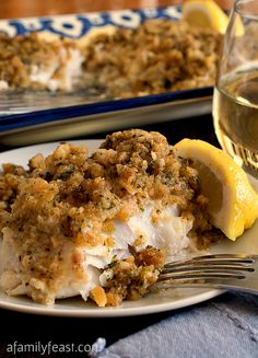 Cheesy Baked Stuffed Cod. Excellent