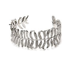 Luxe Pave Feather Cuff, Silver 1 ea