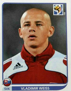 Vladimir Weiss of Slovakia. 2010 World Cup Finals card. Retro Football, World Cup Final, Sport 2, Fifa World Cup, Finals, South Africa, Ronald Mcdonald, First Love, Old Things