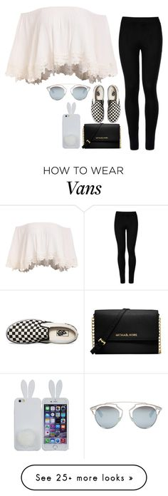 """Untitled #75"" by bbynizzle on Polyvore featuring Wolford, Vans, Christian Dior, Michael Kors, Leggings and WardrobeStaples"