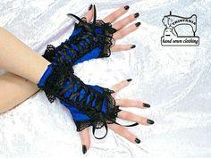 dámské rukavice s korzetovým šněrováním 1310   Zboží prodejce Gothic  Burlesque shop 35b3b4b785